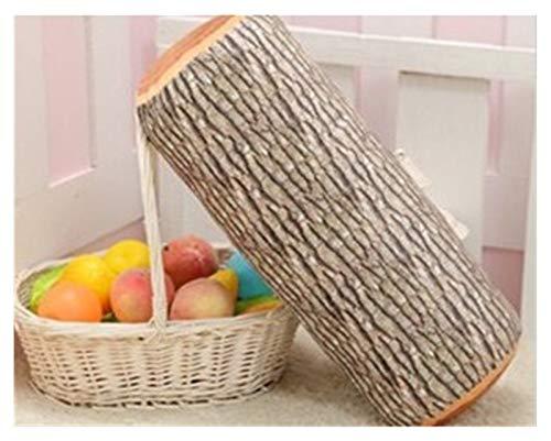 ZCPCS Forma Redonda 38x7cm Fruta de Madera Impreso Asiento Cushon Espuma Interior de Madera Conformación Cojín Almohada Sofá Suave Cojín Relleno (Color : Ginkgo Cushion)