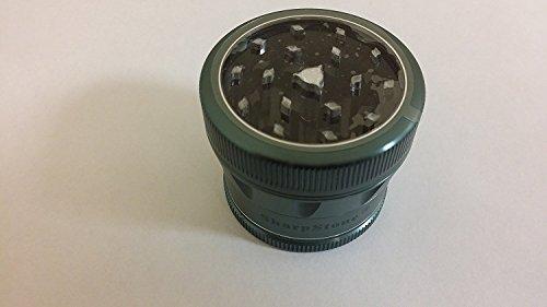 """Sharpstone Version 2.0 2.5"""" 4 Piece Clear Top Grinder Green New Design"""