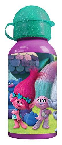 p:os 25827 DreamWorks Trolls Trinkflasche, Aluminium, ca. 400 ml