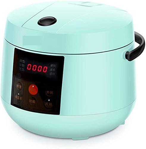 L&WB Rice Cooker Smart Mini 1-3 Personnes Cooker Ménage 2-4 Petit Personnes Rizière Machine De Riz Portable Cuisinière Dortoir-Blanc,Vert