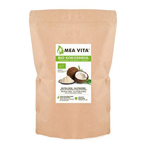 MeaVita Bio Kokosmehl, (1 x 1000g) glutenfrei und fein gemahlen, ideal zum Backen