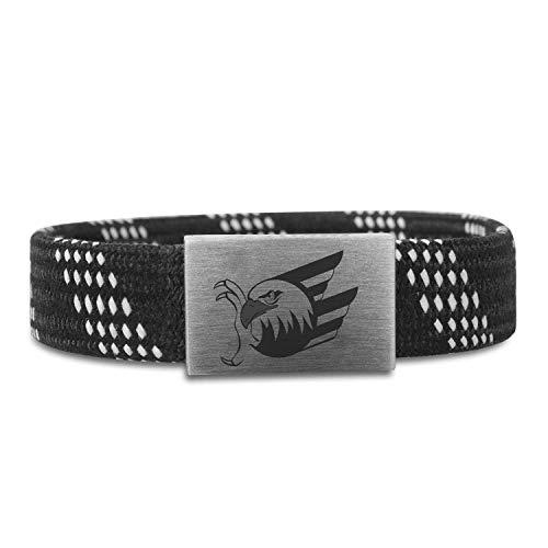 BRAYCE® Adler Mannheim Armband mit original Logo Gravur & Adler Farben I Eishockey pur mit dem Mannheims Trikot am Handgelenk personalisierbar & handgemacht (16cm)