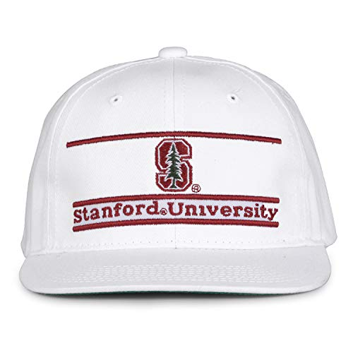 The Game NCAA Stanford Cardinal Unisex Retro Classic Bar Design, White, Adjustable