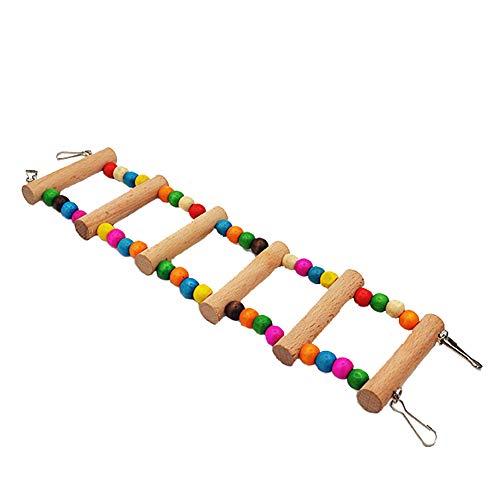 LRXGOODLUKE 2 STKS Papegaai speelgoed, grote middelgrote en kleine papegaai benodigdheden klimladders ladders schommels bijten speelgoed stand bar houten kraal ladder