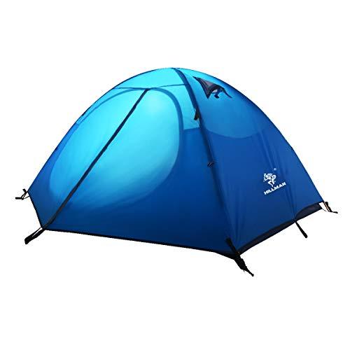 TRIWONDER 3 Stagioni Tenda da Campeggio 2 o 3 Posti, Tenda Ultraleggera Parasole da Spiaggia Trekking Mare Escursionismo Barca Backpacking (Blu - 2 Persone)