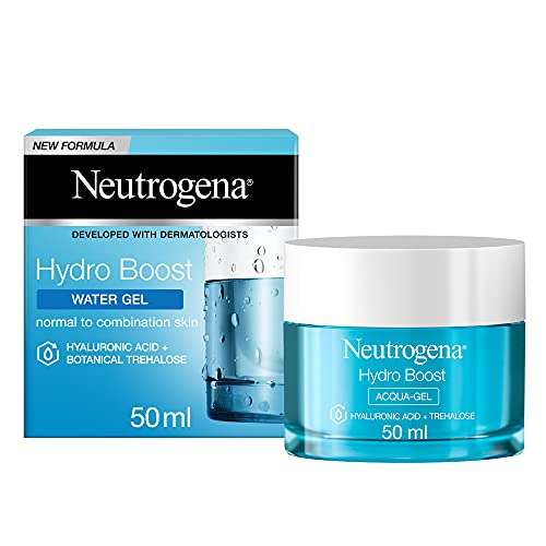 Neutrogena Hydro Boost, Acqua Gel, Acido Ialuronico Idratante, Normali, Pelli Miste e Sensibili, 50 ml