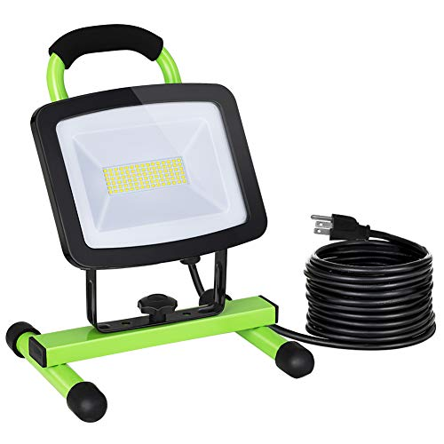 DEWENWILS 72W LED Work Light with Stand, 6600LM Super Bright Flood Lights with 15FT Cord, Portable Garage Lights, Waterproof, Adjustable Working Light for Workshop, Painting, 5000K Daylight, UL Listed