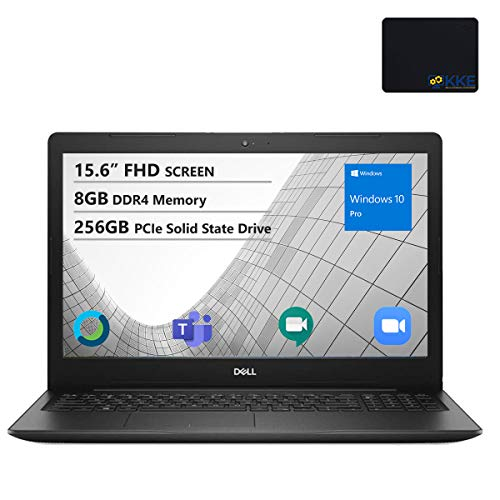 Dell Vostro 3000 15.6' FHD Business Laptop, Intel Core i3-10110U, 8GB Memory, 256GB PCIe Solid State Drive, Webcam, WiFi, HDMI, DVD-RW, KKE Mousepad, Win10 Pro