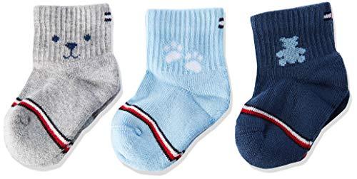 Tommy Hilfiger unisex-baby TH 3P NEWBORN GIFTBOX Socks, blue combo, 11/14 (3er Pack)