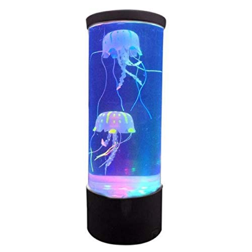 HUANGDANSEN Bedside Lamp  Night Light Hypnotic Jellyfish Relaxing Desktop Child Color Changing Fantasy Table Relaxing Mood Style|Night Lights|