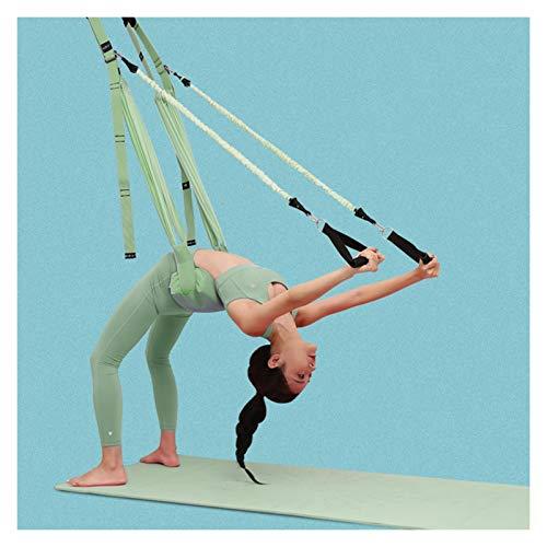 Hamaca de yoga Aéreo de yoga Doblado de una palabra Entrenamiento a caballo Auxiliar Cinturón de estiramiento Auxiliar Hamaca Hamaca Inferior Lumbar Dividir Cinturón Estirar Columpio de yoga aéreo