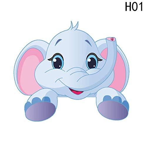 djryj Mignon Animaux Éléphant Chat Panda Girafe Toilette Interrupteur Stickers Cartoon Autocollant Mural pour Enfants Bébé Nurserie Maison Autocollant pour Maison Décoration - Zypa-153a-n