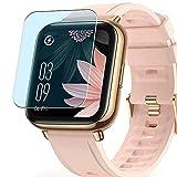 Vaxson 3 Stück Anti Blaulicht Schutzfolie, kompatibel mit AGPTEK LW31 1.69' Smart watch smartwatch, Displayschutzfolie Anti Blue Light [nicht Panzerglas]