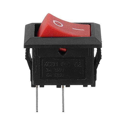 Interruptor basculante de 2 pines, 2 velocidades, 250 V, luz para barco y coche (color: 001)