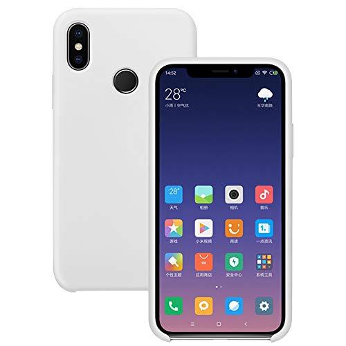 Pacyer Funda Compatible con Xiaomi Mi MAX 3, Ultra Suave TPU Gel de Silicona Case Protectora Suave Flexible teléfono Absorción de Impacto Elegante Carcasa Compatible Xiaomi Mi MAX 3 (Blanco)