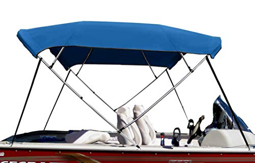 Best Price CONVERTEX Sunbrella Bimini Top Boat Cover 7/8 Aluminum Frame 4 Bows, 8' Length, 46 Heig...