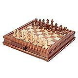 Boblen Juego de Juegos de ajedrez de Nuez de 12.8