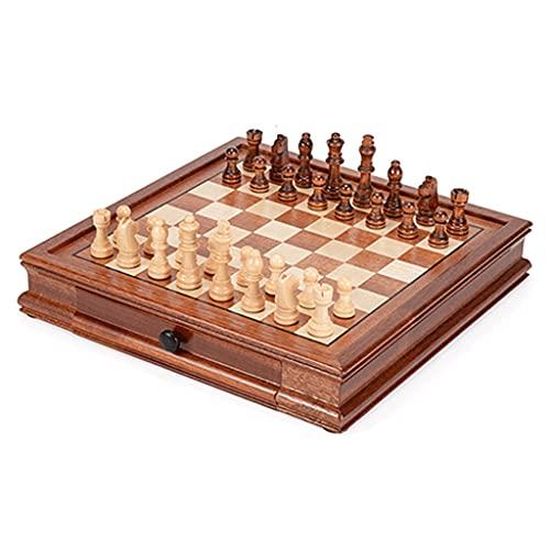 Boblen Juego de Juegos de ajedrez de Nuez de 12.8'x12.8, Tabla magnética, Piezas de ajedrez de Staunton, 2 Reinas adicionales, un Gran Regalo para Adultos, niños, niños