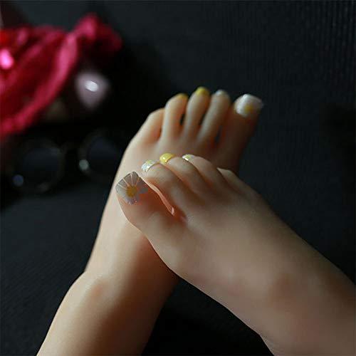 YZZ Modèle Pied, Nail Art Femme réaliste Pieds Pratique Mannequin Affichage Bijoux Chaussettes Chaussures Modèle Pied, 1 Paire