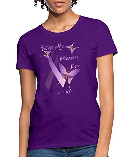 Fibromyalgia Awareness Day Women's T-Shirt, S, Purple