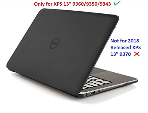 mCover Hard Shell Case for 13.3' Dell XPS 13 9343/9350/9360 model Ultrabook laptop(**Not for 2018 released XPS 13 9370**) - Black (9343/9350/9360)
