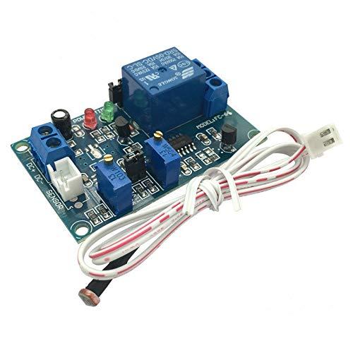 Tablero de relé Interruptor temporizador controlador de detección del sensor de brillo 12V Fotorresistor relé luz del módulo de encendido / apagado con cables for el tablero de coches Para control de