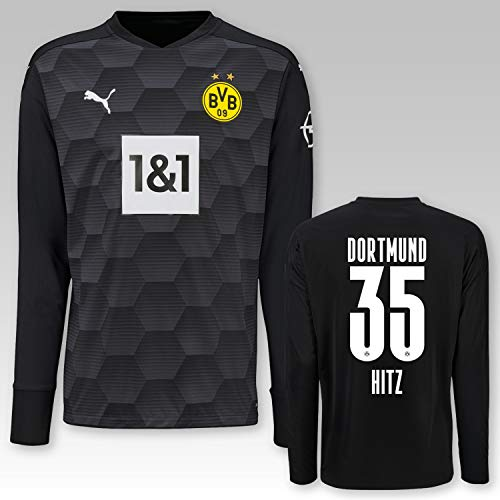 PUMA BVB Torwarttrikot schwarz Saison 2020/21, Größe:152, Spielername:35 Hitz
