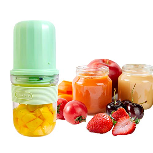 Mini Food Supplement Maker Machine For Baby Kids Adult Gift Small Fruit Juicer Mixer Portable Personal Size Blender USB Rechargeable Travel Office School Outdoor Two Cups Cute Blender BPA-Free Green