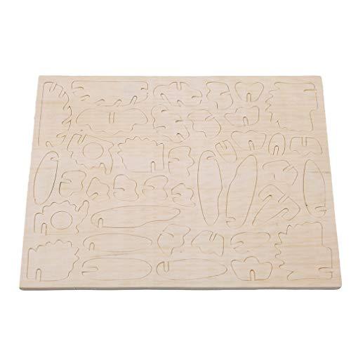 Hengxing DIY Holz Verwirrt Eule Stichsäge Drei Demension Simulation Modell Holz Blöcke Spielzeug Geschenk Für Kinder und Erwachsene