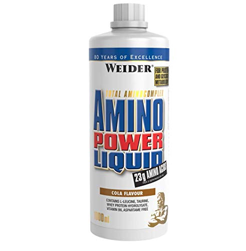 Weider Amino Power Liquid 1L Cola, Essential Amino Acids, L-leucine, Free Taurine, Vitamin B6