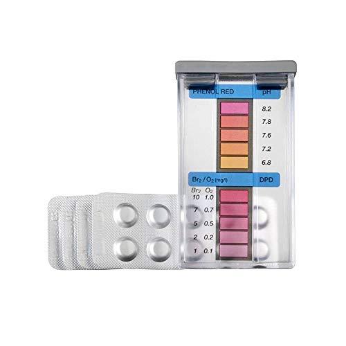 Gre Pools 40066 GRE 40066-Kit de análisis de oxigeno/bromo + PH-pastillas DPD4, Multi