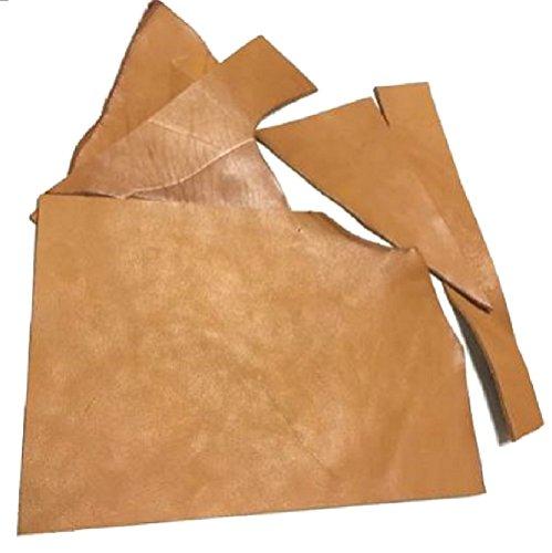 レザークラフト 材料 皮 革 日本産 牛革 ヌメ革 シュリンク 植物 タンニンなめし レザー 厚さ 2.3mm 6 デシ 約A4サイズ ハギレセット