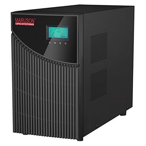 Maruson 2000VA Online Double-Conversion UPS Battery Backup System & Surge Protector, True Sine Wave, Tower, Single Phase Uninterruptible Power Supply, TUV Certified, TAC-LV2K 2000VA / 1800W