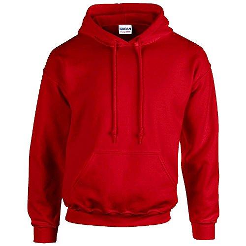 Gildan - Unisex Kapuzenpullover 'Heavy Blend' , Red, Gr. M