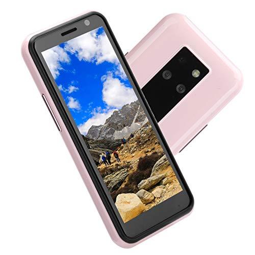 Teléfono móvil pequeño, teléfono Inteligente de Doble Modo de Espera con Doble Tarjeta 4 + 64G, teléfono móvil portátil para Estudiantes HD de 3.49 Pulgadas, Rosa(EU)