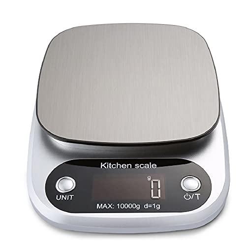 Liudan Cocina de hogar Escala electrónica báscula de Comida for Hornear Herramienta de medición de la Plataforma de Acero Inoxidable con LCD Monitor (Color : 5Kg(0.1g))