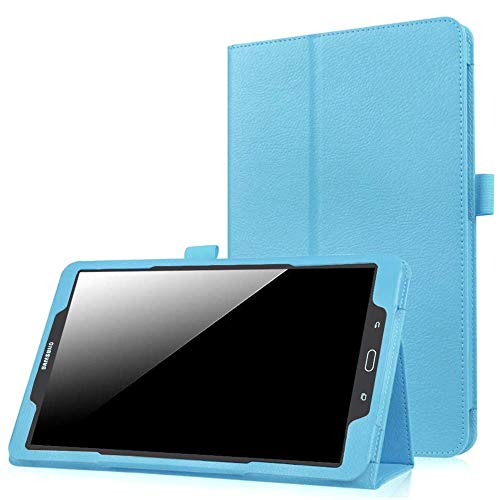 EKVINOR Folio Case for Galaxy Tab A 8.0 2017 Model T380/T385, Premium PU Leather Protective Stand Cover for Samsung Galaxy Tab A 8.0 Inch 2017 Release (SM-T380/SM-T385) - Sky Blue