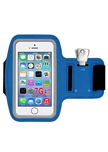 SAATCHITECH - Brazalete deportivo compatible con teléfono móvil de 4,7 pulgadas, cómoda antitranspiración con llavero y correa para Jogging Gym senderismo