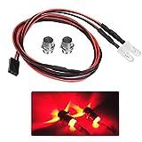 V Luces LED RC GEBY, Faros Delanteros de 5 mm Luces LED de Accesorios RC para vehículos de Deriva Modelo 1/10(Luz roja)