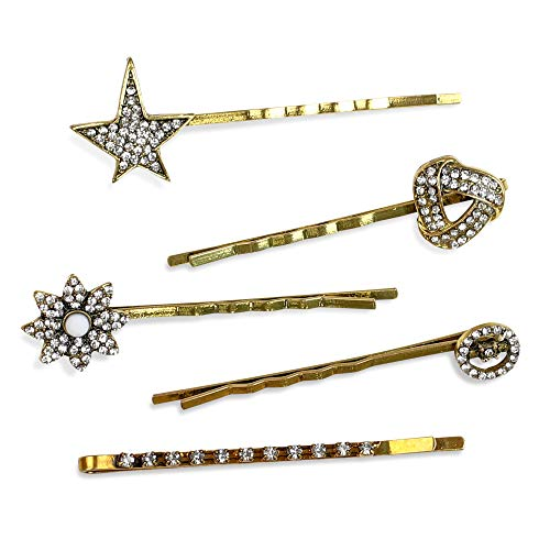 Funky Monkey Fashion Silver Bobby Girl and Woman Hair Pin Set | Sweet and Simple - Pack of 7 piece