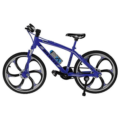BESPORTBLE Bicicletas de Dedo en Miniatura de Metal Bicicleta de Montaña de Juguete de Dedo Bicicleta Novedad Juguetes Juego para Niños Azul