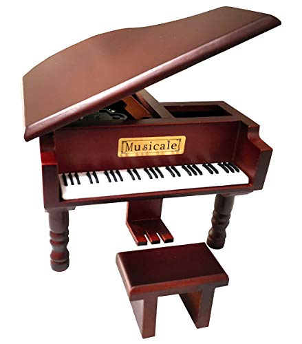 Fontee® Music Box,Quality Classical Wooden Piano,Mechanism Wind Up Musical Jewellery Box,Best Gift for Him or Her,Mother's Day,Father's Day,Valentine's Day,Birthday,Wedding Anniversary,Christmas