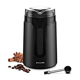 SHARDOR Electric Coffee Grinder with Safe and Durable 304 Stainless Steel Blades,Fast Grinding for Coffee Beans, Dried…