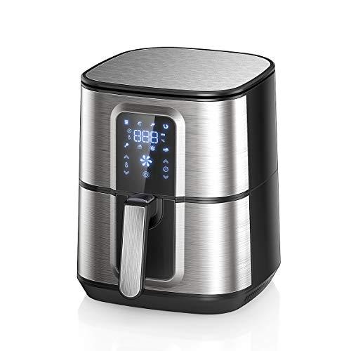 OZEANOS Friggitrice ad Aria Calda, 5,5L Friggitrice Senza Olio, Air Fryer con 8 Programmi, LED Touch Screen, Tempo Temperatura Regolabili,1800W (5,5L)