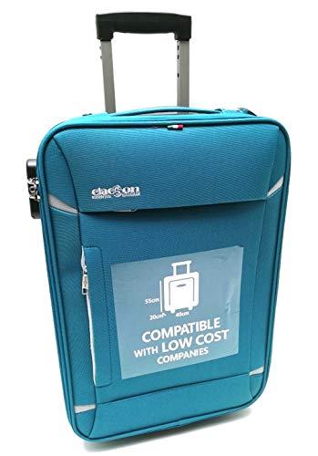 Handbagage Trolley koffer Geschikt voor goedkoop Ryanair Easyjet vluchten (lichtblauw)