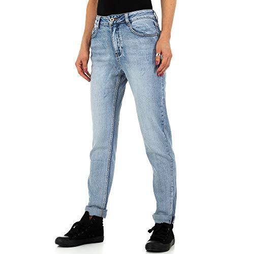 Ital Design Damen Boyfriend Jeans Laulia Gr. M/38 Blau
