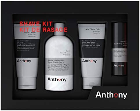 Anthony Shave Kit Set Includes 8 fl oz Glycolic Facial Cleanser 2 fl oz Pre Shave Conditioning product image
