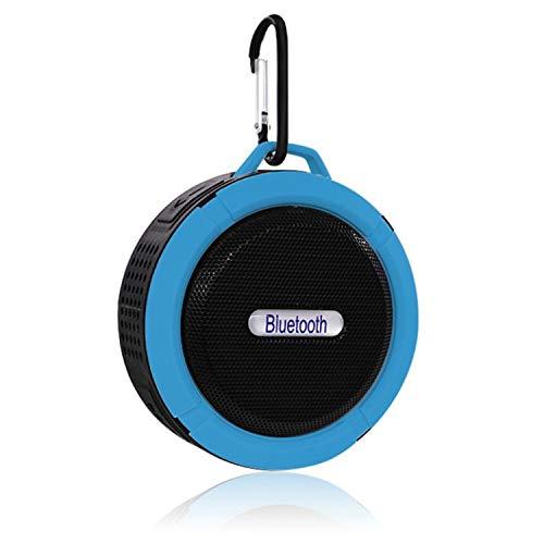 Altavoz de coche libre de manos, Bluetooth Alto altavoz a prueba de agua manos libres portátil incorporado MIC Ducha de micrófono Camping Bike Pool Pool Pool Speakphone con ventosa ( Color : Blue )