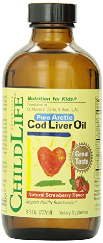Child Life Cod Liver Oil, Glass Bottle, 8-Ounce