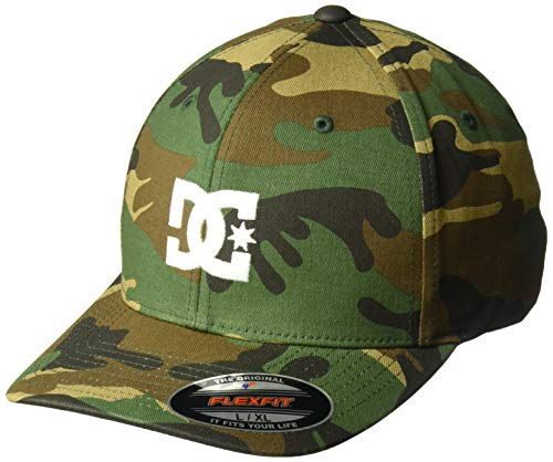 DC Shoes Men's Cap Star 2 Flexfit Hat Camo Green S/M